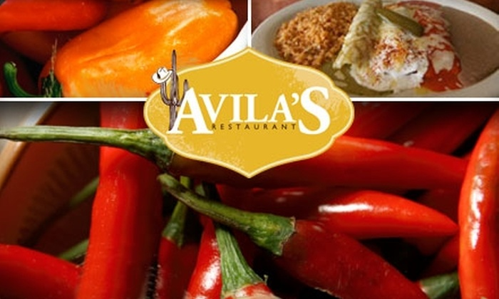 Avila's Restaurant - Northwest Dallas-love Field: $10 for $20 Worth of Tex-Mex Cuisine at Avila's Restaurant
