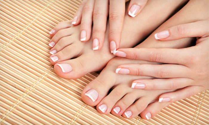 Gold Hair Salon and Spa - Downtown: $25 for Manicure and Pedicure at Gold Hair Salon and Spa in Peabody ($50 Value)