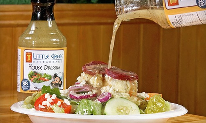 Little Greek Restaurant - J.J. Pearce: $14 for a Three-Course Dinner for Two at Little Greek Restaurant in Richardson (Up to $29.26 Value)