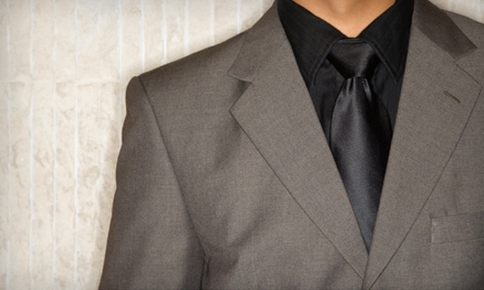 Premier Clothing Company - McShann Estates: $649 for One Custom Suit and Two Silk Ties from Premier Clothing Company (Up to $1,517 Value)