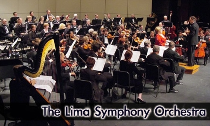 Lima Symphony Orchestra - Multiple Locations: $10 for One Adult Ticket to the Lima Symphony Orchestra (Up to $28 Value). Choose Between Two Shows.