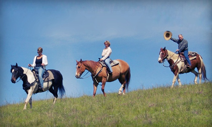 Dakota Stables - Credit River: One- or Two-Hour Semiprivate Horseback Trail Ride for Two from Dakota Stables in Prior Lake (Up to 66% Off)