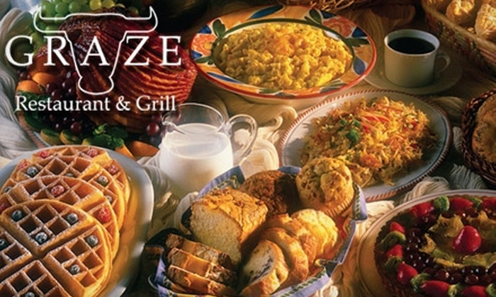 Graze Restaurant - Vista Heights: $20 for Two Dinner Buffets or Two Sunday Brunch Buffets at Graze Restaurant (Up to $39.90 Value)