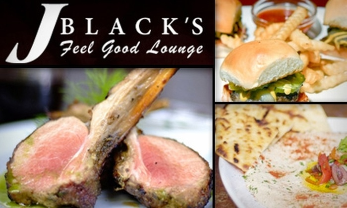 J. BLACK'S Feel Good Lounge - Downtown: $10 for $20 Worth of Refined American Fare at J. BLACK'S Feel Good Lounge