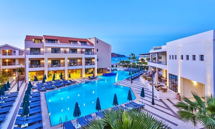 ✈ Crete: Up to 7Night AllInclusive Stay at 5* Porto Platanias Beach Resort & Spa with Return Flights*