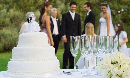 $4,299 for Wedding Pkg for 40 Guests + Cake at The Verandah Restaurant (Up to $7,160 Value)