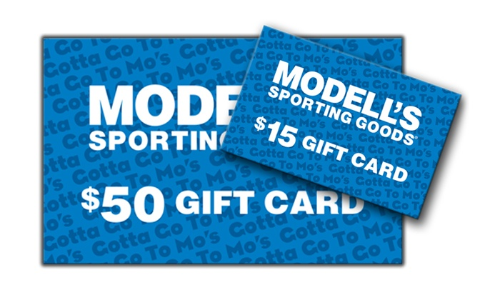 Modell's Sporting Goods: One $50 e-Gift Card and One $15 Bonus e-Gift Card for Sporting Goods and Apparel at Modells.com