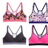 6-Pack Floral-Print Sports Bras. Plus Size Available.