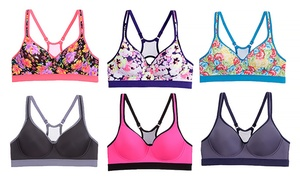 6-pack Floral-print Sports Bras