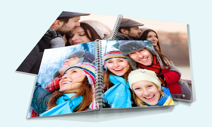 PrinterPix: 20- and 40-Page Custom Spiral Vinyl Photobooks from $4.99 by Printerpix (Up to 78% Off)