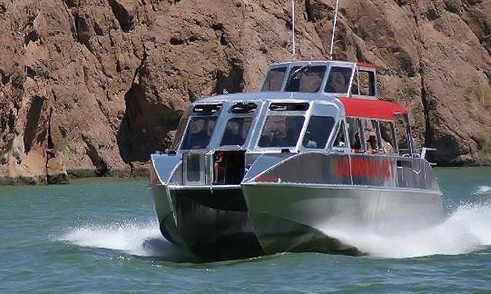 Las Vegas Southwest Tours - The Strip: Lake Havasu Jet Boat Tour With Transportation & Food from Las Vegas Southwest Tours (Up to 35% Off)