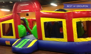 Leaping Lizards Indoor Inflatable Fun Center: All-Day Jumping Admission for Two, Four, or Six at Leaping Lizards Indoor Inflatable Fun Center (29% Off)