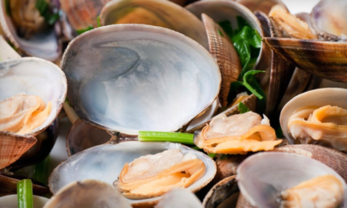 Oyster House Saloon - Studio City: $16 for Seafood Meal with Oysters, Entree, Bread Pudding, and Wine at Oyster House Saloon in Studio City (Up to $34.90 Value)