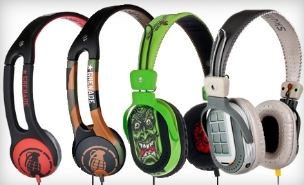1 Pair of Icon 2 Grenade Headphones in Army/Camo or Red/Black Colors Including Shipping (up to a $4 Value; up to a $33.99 Total Value)  - Skullcandy in