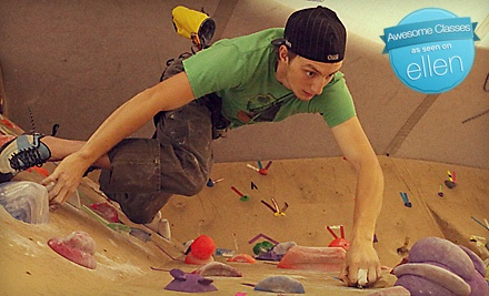 1-Hour Personal Belay for up to Four Climbers and Equipment (up to $90 value) - Carabiner's Indoor Climbing in New Bedford