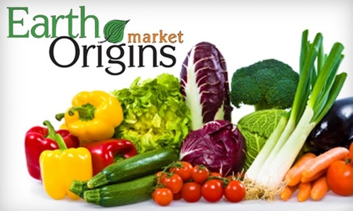 Earth Origins Market - Multiple Locations: $15 for $30 Worth of Local, Natural, and Organic Groceries and Goods at Earth Origins Market