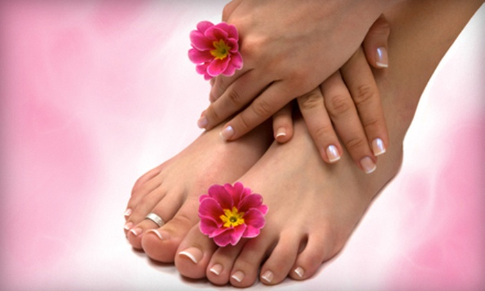 Hair Symmetry - Franklin Park: Basic or Shellac Mani-Pedi at Hair Symmetry in Wexford (53% Off)