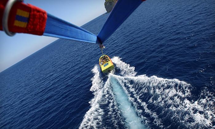 Sky Pirate Parasail - Treasure Island: $85 for a Tandem Parasail Flight for Two at Sky Pirate Parasail on Treasure Island ($180 Value)