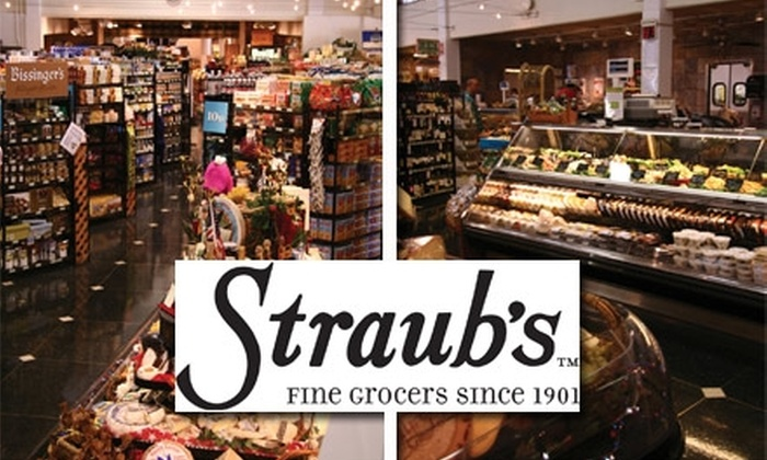 Straubs - Multiple Locations: $15 for $35 Worth of Groceries at Straub's Fine Grocers