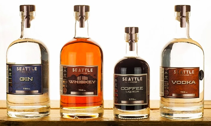 Seattle Distilling - Vashon: Distillery Tour & Tasting with Take-Home Glasses for Two or Four at Seattle Distilling Company (Up to 50% Off)