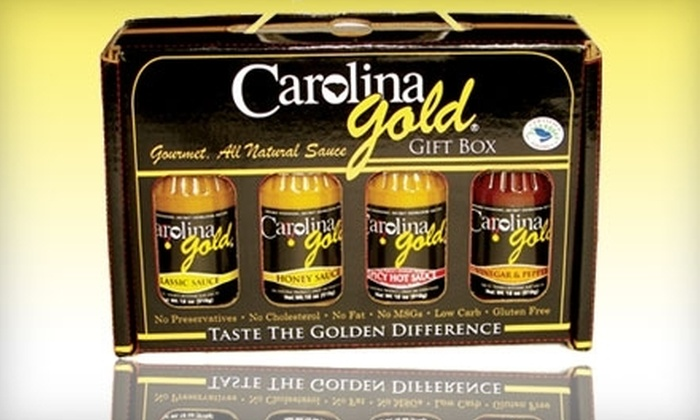 Carolina Gold: $10 for a Four-Flavor Gift Box of Gourmet Barbecue Sauces from Carolina Gold ($19.99 Value)
