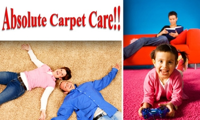 Absolute Carpet Care  - San Diego: $40 for Two Rooms Carpet Cleaned by Green Cleaners Absolute Carpet Care ($85 Value)