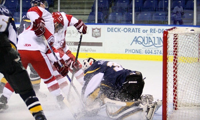 Okanagan College Coyotes - Central City: $19 for a Five-Game Hockey Package with a T-shirt and Lanyard from Okanagan College Coyotes (Up to $48 Value)