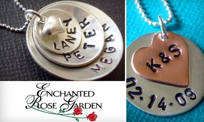 Enchanted Rose Garden - Penfield: $10 for $20 Worth of Hand-Stamped Jewelry at Enchanted Rose Garden