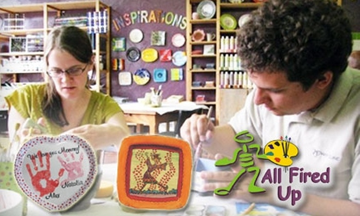 All Fired Up - Multiple Locations: $20 for $40 Worth of Pottery Painting or Glass Fusing at All Fired Up