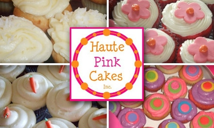 Haute Pink Cakes - Carmel Mountain: $8 for Six Homemade Cupcakes From Haute Pink Cakes