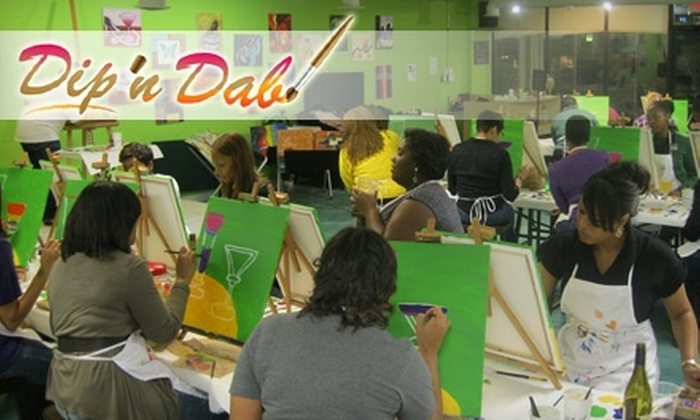 Dip 'n Dab - Lindridge - Martin Manor: $10 for a Two-Hour BYOB Painting Class at Dip 'n Dab ($25 Value)