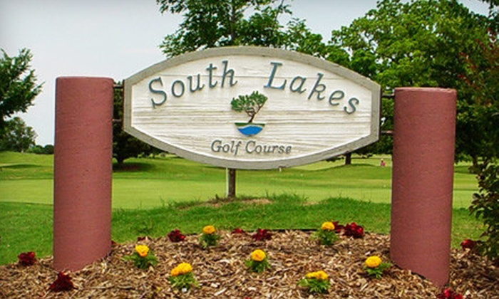 South Lakes Golf Course - Jenks: Golf Outing with Cart, Range Balls, and Sleeves of Titleist Balls for Two or Four at South Lakes Golf Course in Jenks (Up to 51% Off)