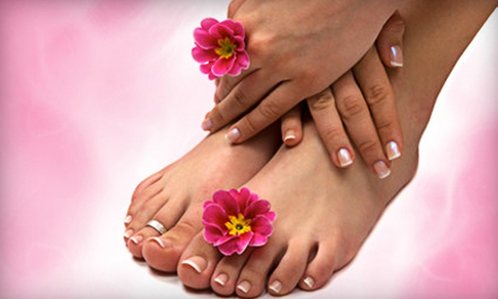 HotHeadz Salon - Savannah / Hilton Head: $39 for a Regular or Shellac Manicure with Regular Pedicure at HotHeadz Salon (Up to $80 Value)