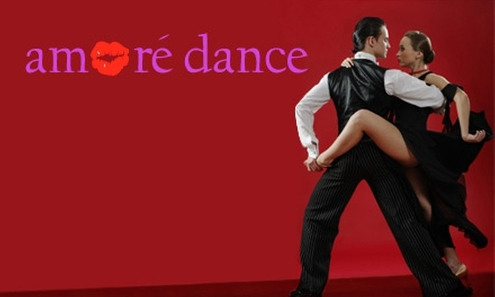 Amore Dance - Stoll Park Center: $15 for Four Drop-In Ballroom, Salsa, Zumba, Swing, Hip-Hop, or Belly-Dance Classes at Amore Dance (Up to $40 Value)