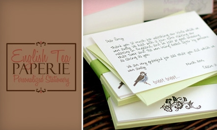 English Tea Paperie: $10 for $20 Worth of Custom Stationery and Paper Goods from English Tea Paperie