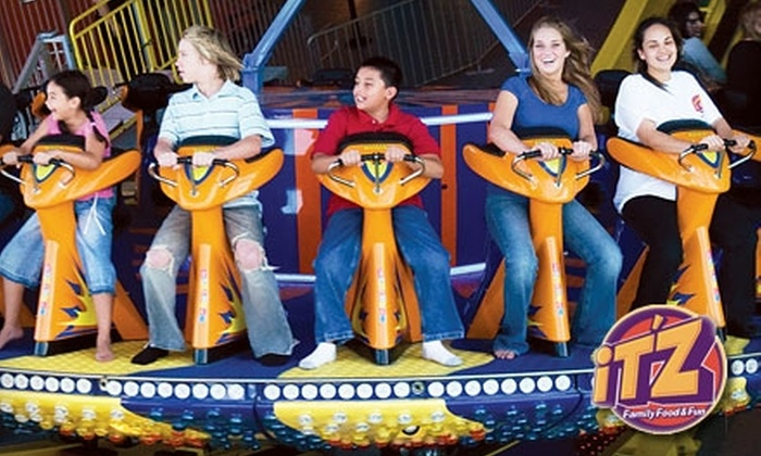 iT'Z Family Food & Fun - Montgomery Plaza: $24 for Three Attractions, 90 Minutes of Time Play, 200 Prize Tickets, and a Buffet and Drink at iT'Z Family Food & Fun in Albuquerque (Up to $48.42 Total Value)