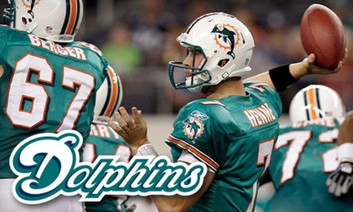 Miami Dolphins - Miami Gardens: One Ticket to a Miami Dolphins Game. Choose from Three Games and Two Seating Options.