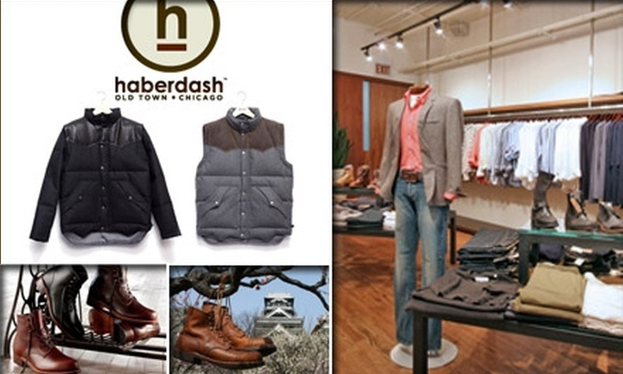 Haberdash - Near North Side: $50 for $100 Worth of Men's Clothing at Haberdash