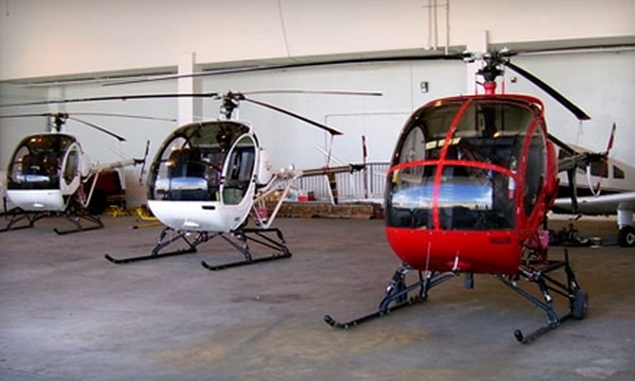 Airwork LLC - Renton: $155 for a Helicopter Ground Lesson and 45-Minute Flight Plus a T-Shirt or Hat from Airwork LLC in Auburn ($313.28 Value)