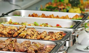 Aruha Sports Lounge: Eclectic International Buffet Lunch or Dinner for Two or Four at Aruha Sports Lounge (Up to 43% Off)