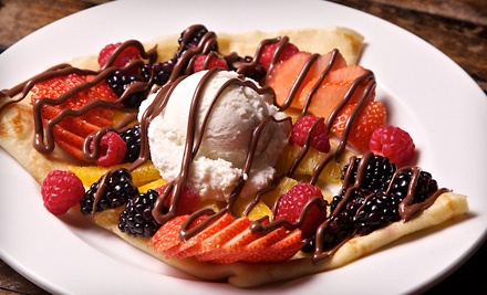 Sweet and Savory Crepes at What Crepe (Up to Half Off)