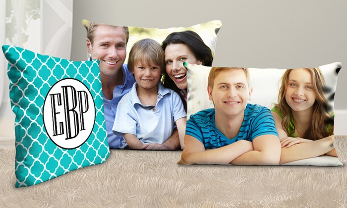 Picture it on Canvas: One or Two Personalized Square or Rectangular Pillows from Picture It On Canvas (Up to 81% Off)