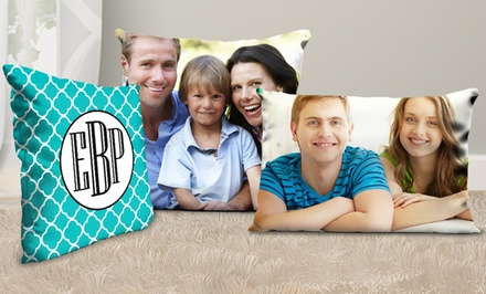 One or Two Personalized Square or Rectangular Pillows from Picture It On Canvas (Up to 81% Off)