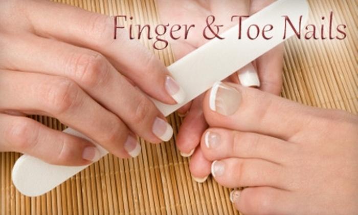 Finger & Toe Nails - Westover: $15 for a Mani-Pedi at Finger & Toe Nails ($35 Value)