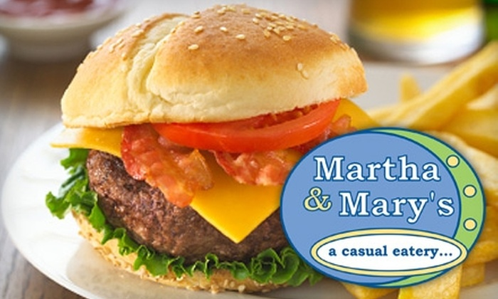 Martha and Mary's Restaurant - Reisterstown: $5 for $10 Worth of Comfort Food, Combo Meals, Breakfast Pizzas, and More at Martha and Mary's Restaurant in Reisterstown