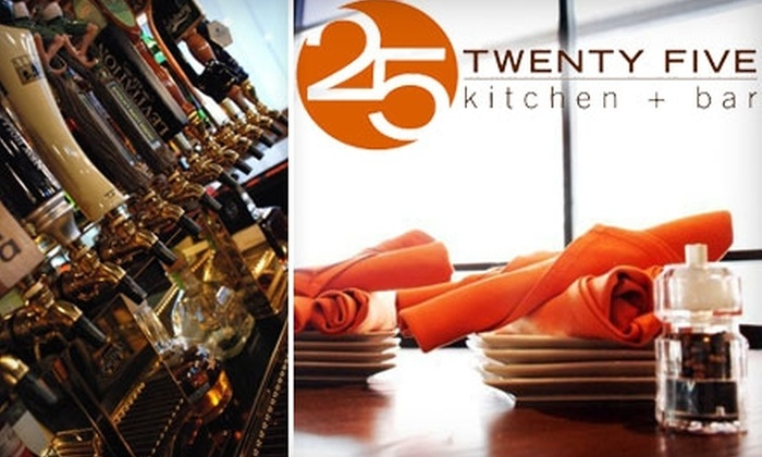 25 Kitchen & Bar - Heartside-Downtown: $15 for $30 Worth of Wood-Fired Pizzas, New American Fare, and Signature Drinks at 25 Kitchen & Bar