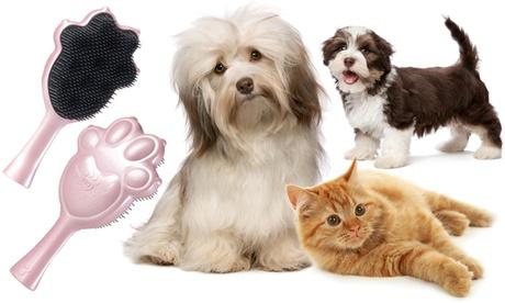 Cepillo para mascotas disponible en dos colores