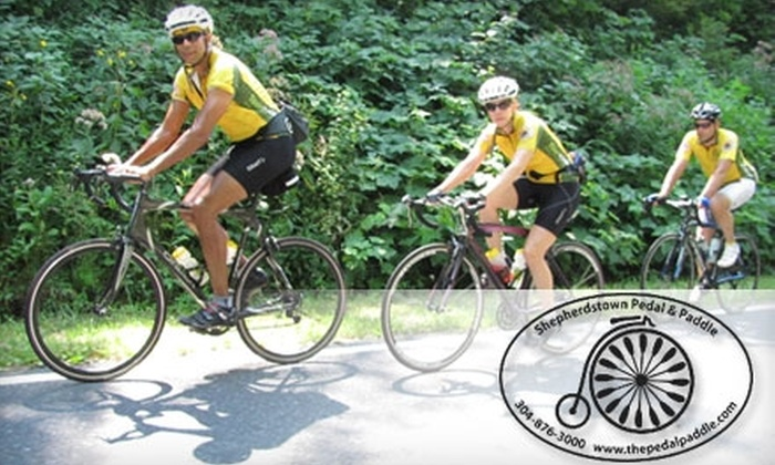 Shepherdstown Pedal & Paddle - Shepherdstown: $20 for an All-Day Bike Rental from Shepherdstown Pedal & Paddle in Shepherdstown, WV