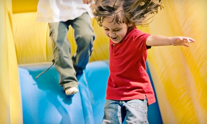Bounce Town - Oswego: 10 Two-Hour or 90-Minute Open-Bounce Passes at Bounce Town in Oswego (Half Off)