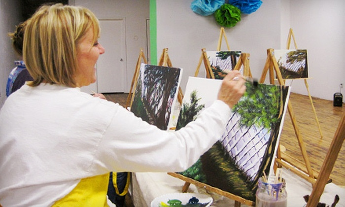 RSVPaint - Downtown Springfield: $35 for a Two-Hour BYOB Painting Class for Two at RSVPaint (Up to $80 Value)